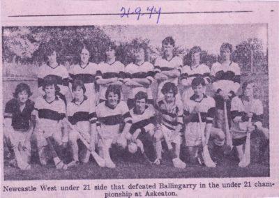 U 21 Hurling 1975